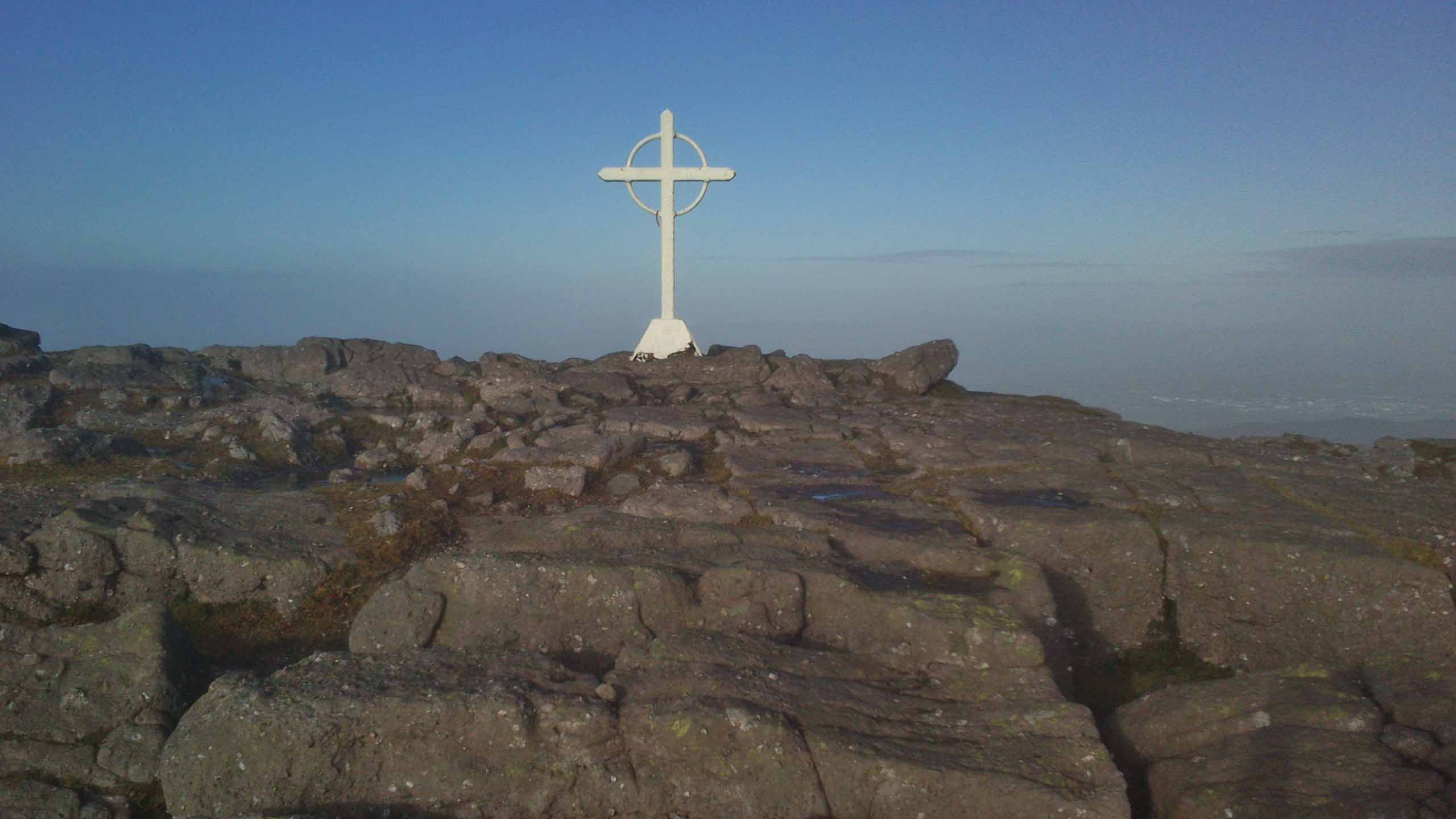 Cross near top of Galtymore